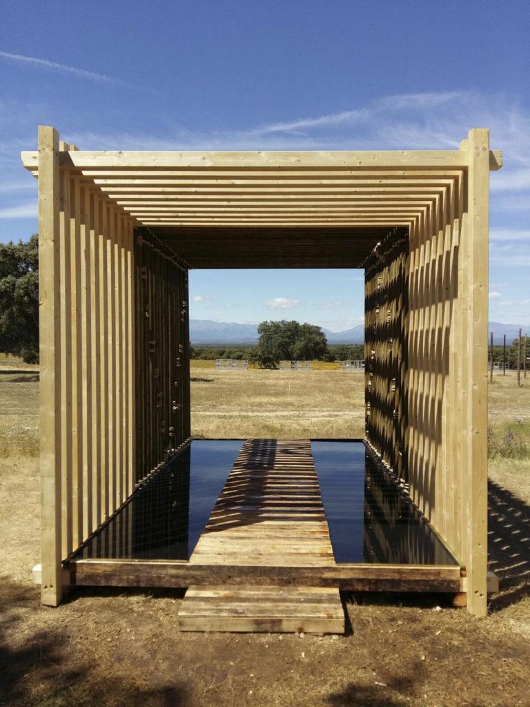 instalación madera y agua